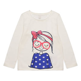 Camiseta Cat's girl Blanco 110 (4-5A)