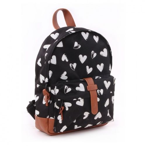 Mochila Hearts Black & White